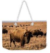 Where The Buffalo Roam Weekender Tote Bag