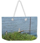 Where The Fence Ends Weekender Tote Bag