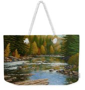 Where The River Flows Weekender Tote Bag
