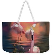 Where The Wild Flamingo Grow Weekender Tote Bag