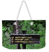 Which Way To Mayflower Lake Weekender Tote Bag