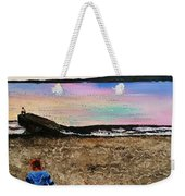 While Sunset Glow Fades , Tempest Roams In The Pathless Sky  While Sunset Glow Fades  Weekender Tote Bag