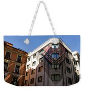 Whimsical Madrid - A Building Draped In Traditional Spanish Mantilla Weekender Tote Bag
