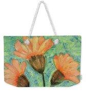 Whimsical Orange Flowers - Weekender Tote Bag