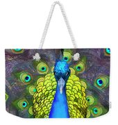 Whimsical Peacock Weekender Tote Bag