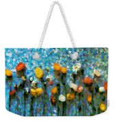Whimsical Poppies On The Blue Wall Weekender Tote Bag