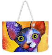 Whimsical Sphynx Cat Painting Weekender Tote Bag