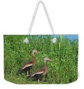 Whistling Ducks Weekender Tote Bag