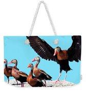 Whistling Ducks Weekender Tote Bag by Marian Cates