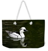 White And Black Duck Weekender Tote Bag