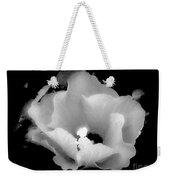 White And Black Hibiscus Flower Weekender Tote Bag