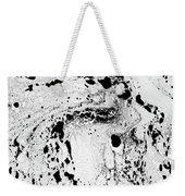White And Black  Weekender Tote Bag