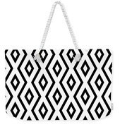 White And Black Pattern Weekender Tote Bag by Christina Rollo