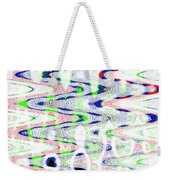 White And Blue Abstract Weekender Tote Bag