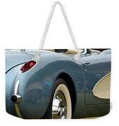 White And Light Blue Corvette Weekender Tote Bag