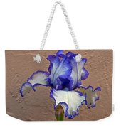 White And Purple Bearded Iris Weekender Tote Bag