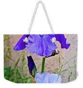 White And Purple Irises At Pilgrim Place In Claremont-california- Weekender Tote Bag