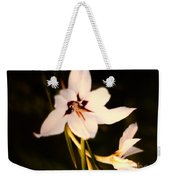 White And Purple Lily Weekender Tote Bag