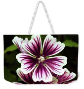 White And Purple Weekender Tote Bag