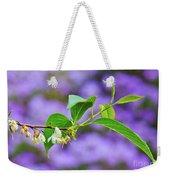 White And Purple Spring 2 Weekender Tote Bag