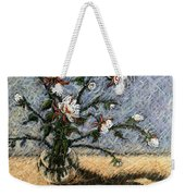 White And Red Dahlias Weekender Tote Bag