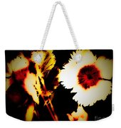 White And Red Dianthus Weekender Tote Bag