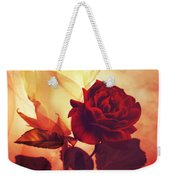 White And Red Roses Weekender Tote Bag