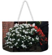 White And Red Weekender Tote Bag
