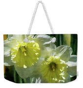 White And Yellow Daffodil 8887 Idp_2 Weekender Tote Bag