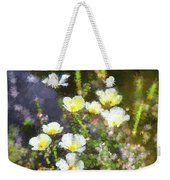 White And Yellow Poppies Abstract 2   Weekender Tote Bag