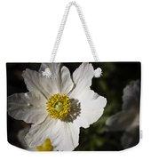 White Anemone Weekender Tote Bag