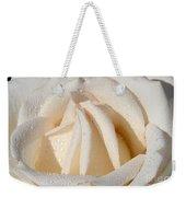 White Angel Rose Weekender Tote Bag