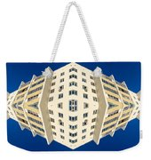 White Apartment Block Abstract And Blue Sky Weekender Tote Bag