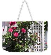 White Arbor In A Garden Weekender Tote Bag by Elena Elisseeva