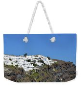 White Architecture In The City Of Oia In Santorini, Greece Weekender Tote Bag