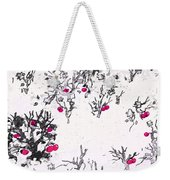 White As Snow With Cherries Weekender Tote Bag