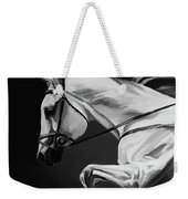 White Beautiful Horse B And W Weekender Tote Bag