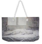 White Bed Sheet- Warmth Weekender Tote Bag