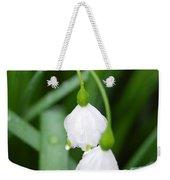 White Bells Perspective Weekender Tote Bag