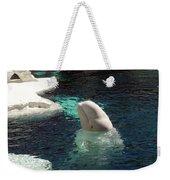 White Beluga Whale 3 Weekender Tote Bag
