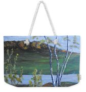White Birch In The Landscape Weekender Tote Bag