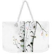 White Birch Weekender Tote Bag