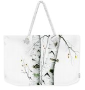 White Birch Weekender Tote Bag
