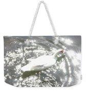 White Bird On Sparkly Water Weekender Tote Bag