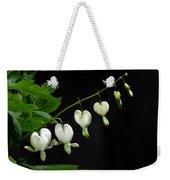 White Bleeding Hearts Weekender Tote Bag