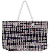 White Blocks With Added Color, Weekender Tote Bag