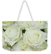 White Blooming Roses Weekender Tote Bag