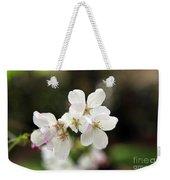 White Blossom  Weekender Tote Bag