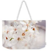 White Blossoming Cherry Tree Macro Weekender Tote Bag