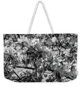 White Blossoms In Black And White Weekender Tote Bag